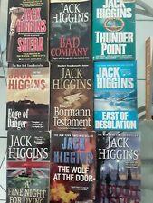 JACK HIGGINS 9 BOOK PAPERBACK LOT