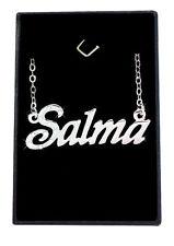 Collier Prénom SALMA 18K Plaqué or blanc - Arabe Musulman Accessoires De mariée
