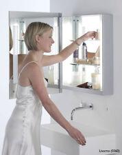 Silver Metal Wall Mounted Bathroom Mirrors