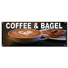 COFFEE AND BAGEL Food Fair Restaurant Cafe Market Vinyl Banner Sign 4 ft x 8 ft