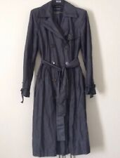 Cool Autograph Grey Crinkle Trench Dress Coat Water Repellent Marks & Spencer 12