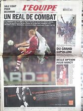 L'Equipe Journal 11/04/2002; Real-Bayern 2-0/ Leverkusen-Barça/ Copollini