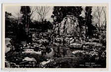 Ideal Home Exhibition 1954 Real Photo Postcard - Rock Garden by Fitzpatrick