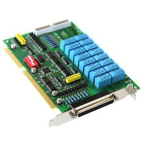 ICP DAS P16R16DIO-CR ISA-Relaiskarte E/A-Karte 16 Relais RY12WK PC-Messkarte DAQ