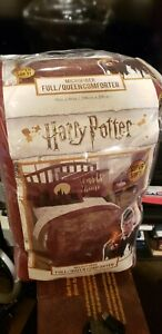 Harry Potter Hogwarts Crest Full/Queen Comforter Gold Foil 81x86 NWT Microfiber