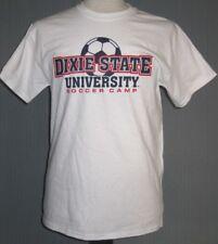 Dixie State University Soccer Camp Adult Medium White T-Shirt ( M Trailblazers )