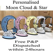 Personalised Newborn Baby Boy Girl Gift Present Christening Keepsake Moon Star
