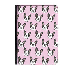 """French Bulldog Pink Dog Puppy Universal 7"""" Leather Flip Case Cover"""