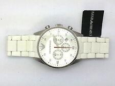 Emporio Armani Mens White Chrono Watch - AR5859