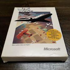 "1989 Microsoft Flight Simulator 3.5"" Disc 4.0 w/Box Insert Manual 4.0 Version"