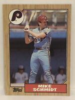 1987 Topps Mike Schmidt baseball card Philadelphia Phillies #430 HOF MLB Mint