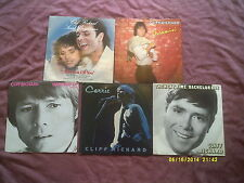 "CLIFF RICHARD 5 7"" SINGLES in PICTURE SLEEVES inc CARRIE,WIND ME UP etc"