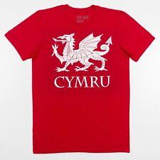 Wales Cymru T-Shirt Brythonic Spelling Red Soft Thin Cotton Adult Medium