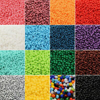 Wholesale 5000Pcs Lot Opaque Glass Seed Beads Jewelry Finding DIY Craft 2MM Ya