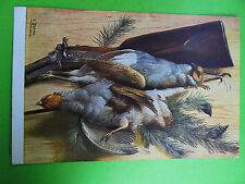 POST CARD PHEASANTS BIRDS POST DATE 1909