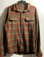 ORVIS MEN'S THICK LONG SLEEVE FLANNEL BUTTON FRONT SHIRT SIZE LARGE