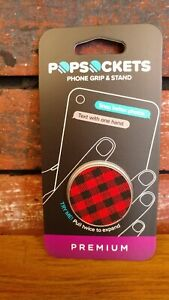 Popsockets PopGrip Phone Grip - Classic Check Red - 800320