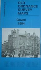 Old Ordnance Survey Detailed Maps Govan near Glasgow Scotland 1894 Godfrey Edit