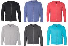 Mens T Shirt Zipper Hoodie - Long sleeve - 4.8 OZ (Kangaroo Pocket )