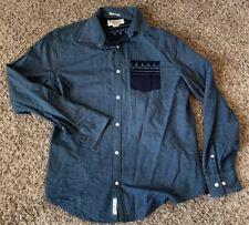 Penguin Shirt M Classic Fit Mens Blue Gray Cotton Polka Dots