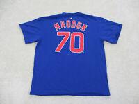 Chicago Cubs Shirt Adult Extra Large Blue Red John Maddon MLB Baseball Mens
