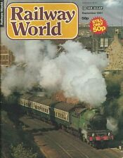 RAILWAY WORLD MAGAZINE - SEPTEMBER 1981 - IAN ALLAN LTD
