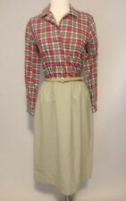 1970s Plaid Shirt Dress Vintage Women's Day Dress By Beeqe Size S