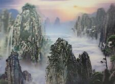 Poster Print 3d picture of Huang Shan, great for Home Decoration L069