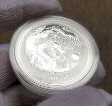 2012 Australia Lunar Dragon 1 oz Silver Coin BU