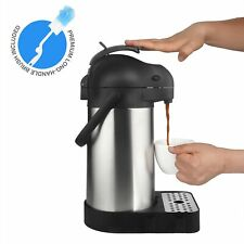74 Ounce (2.2 Liter) Airpot Thermal Coffee Carafes (Airpot, Drip Tray, Brush)