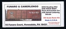 Funaro F&C 8293 READING  Automobile RDG  SPEED Letter Steel XAd Auto Boxcar 1-PC