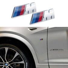 2 X Premium M-SPORT for BMW Car Chrome Emblem Wing Badge Logo Sticker 45mm