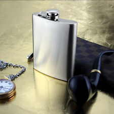 8oz Personalised Liquor Stainless Steel Hip Flask,Funnel and Moulded 230ml.