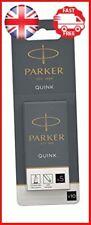 Parker Quink Fountain Pen Refills, Long Cartridges, Black Ink, Pack of 10