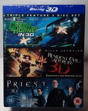 Green Hornet / Priest / Resident Evil - Afterlife (3D Bluray Boxset)NEW-Free S&H