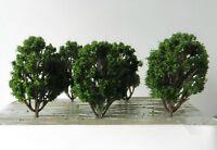 6 x BUSHY GREEN MODEL TREES 8 cm MODEL RAILWAY SCENERY HO / OO SCALE WARGAMES #7