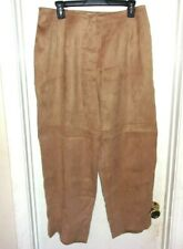 Talbots Woman Petites Brown Slacks Pants Elastic Waist 14W