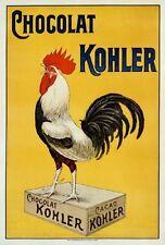 chocolat Kohler REPRODUCTION GRAND BOITE MÉTAL SIGNE Affiche Plaque murale