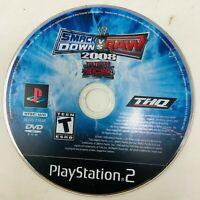 WWE Smackdown vs. Raw 2008 PS2 Sony Playstation 2 Video Game Disc Only