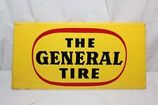 Vintage 1950's The General Tire Tires Gas Station Oil Metal Sign~Nice