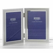 Satin Silver Colour Twin 2 Picture Folding Photo Frame Gift