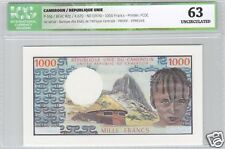 CAMEROUN EPREUVE PROOF DU 1 000 FRANCS ND (1974) TRES RARE !!!!