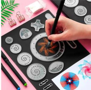 22 Pcs Spirograph Drawing Toy Set Wheel Painting Interlocking Gears Accessories