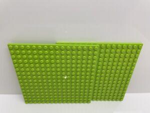 LEGO - Lime Green 16x16 Base Plates / 2 Per Order