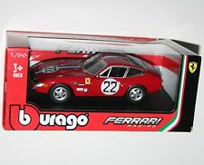 Burago - FERRARI 365 GTB4 (#22 Red) - Die Cast Model - Scale 1:24