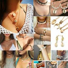 Fashion Women Gold Shell Boho Beach Sea Pendant Choker Chain Necklace Jewelry