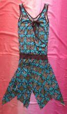 Boho Hippie Butterfly Print Dress by Diva Vintage UK Size 8