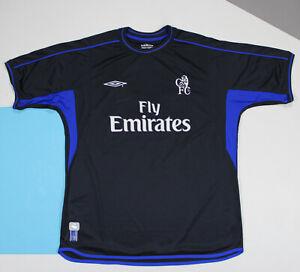 FC Chelsea 2002 - 2004 Away Football Shirt Jersey (size XL)