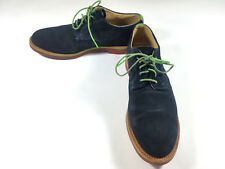 Walkover Mens Shoes Suede Leather Lace Up Oxfords Sz 10 M Navy Blue Green