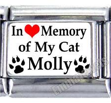 In Loving Memory Of My Cat Pet Custom Name 9mm Italian Photo Charm New